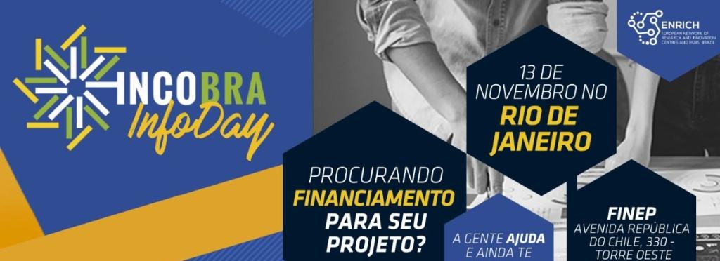 INCOBRA Infoday no RJ no dia 13 de novembro